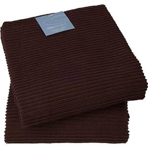 Now Designs Ripple Towel Set Of 2 Chocolate Brown Towels