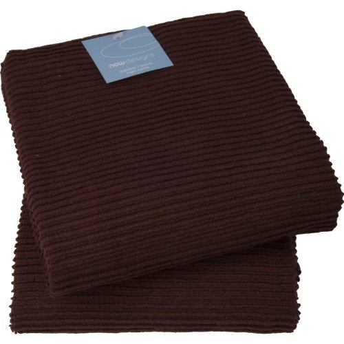 Now Designs 197575a Ripple Towel, Set of 2 (Chocolate)