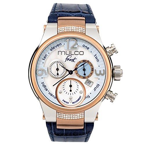Mulco MW5Gelo-2601-143blu cinturino in pelle orologio donna con cristalli Swarovski