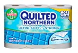 Quilted Northern Ultra Soft and Strong Bath Tissue, Double Rolls, 6 ct