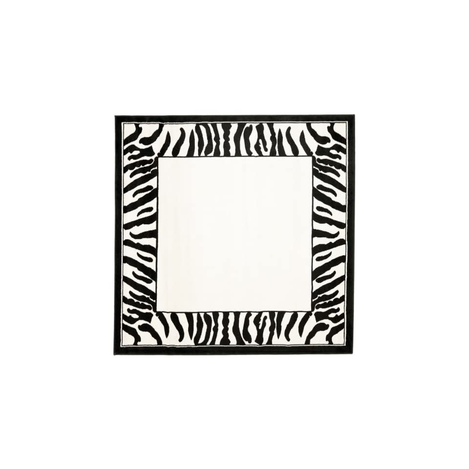 Safavieh Lyndhurst Collection LNH227A White and Black Square Area Rug (6 Square)