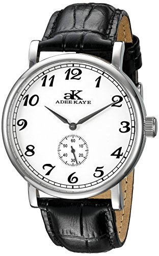 Adee Kaye Vintage Mechanical AK9061-M-SV 49.95x41.43mm Automatic Stainless Steel Case Black Calfskin Mineral Men's Watch