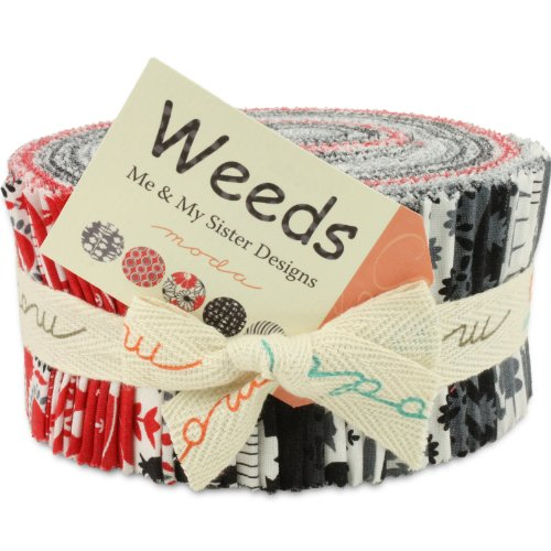 Moda Weeds Jelly Roll, Set of 40 2.5x44-inch (6.4x112cm) Precut Cotton Fabric Strips