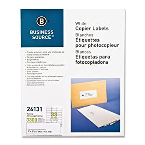 Amazoncom business source products mailing labels 1 for Business source label templates