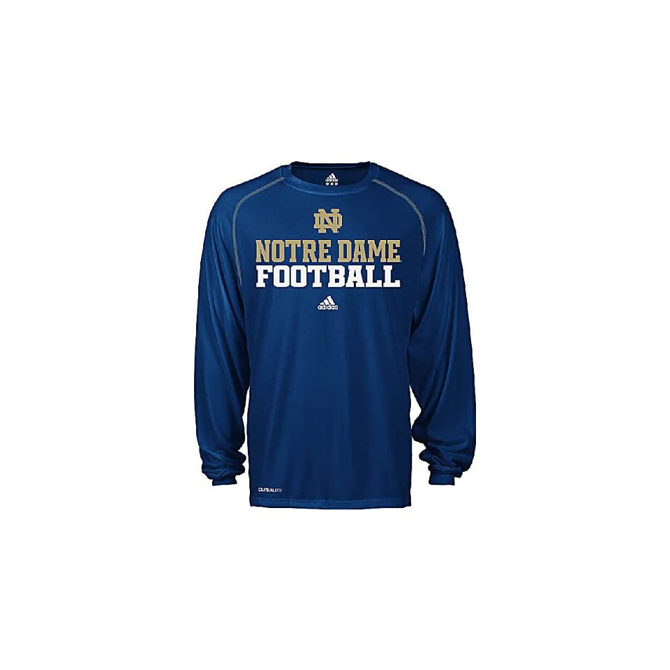 Adidas Notre Dame Fighting Irish Adult Climalite Sidelines Long Sleeve Top