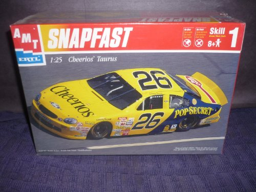 #30022 AMT SnapFast Johnny Benson #26 Cheerios Taurus 1/25 Scale Plastic Model Kit,Needs Assembly