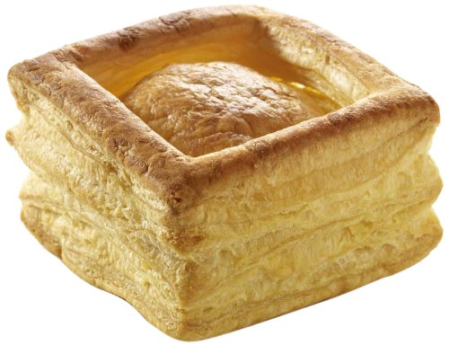 Pidy Vol-au-vent Square Shape Butter Puff Pastry Shell Golden Brown Colour 36 Pieces