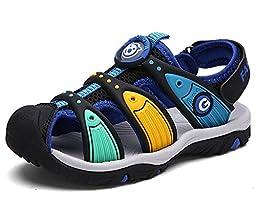 Zicoope Outdoor Sport Sandals for Boys Kids(Toddler/Little Kid/Big Kid) Black 9 M