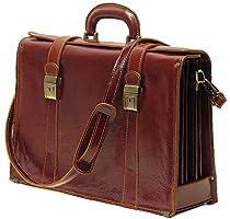 Floto Trastevere Brown Briefcase Attache Lap-top Case