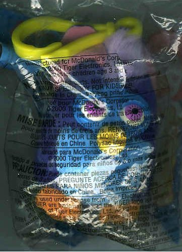 Owl Furby Plush Clip-on - 2000 McDonald's Happy Meal Furby Series #4