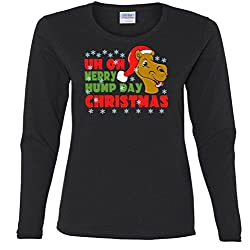 Merry Hump Day Christmas Camel Missy Fit Long Sleeve T-Shirt