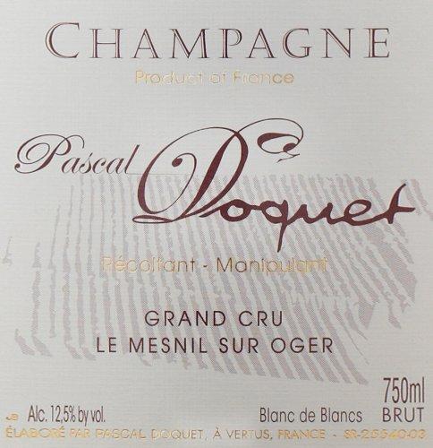 2002 Pascal Doquet Brut Blanc De Blancs, Le Mesnil Sur Oger Grand Cru 750 Ml