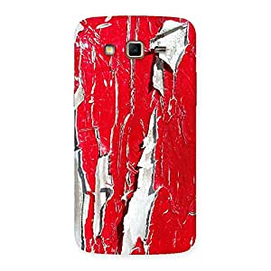Stylish Red Ripped Paint Print Back Case Cover for Samsung Galaxy Grand 2