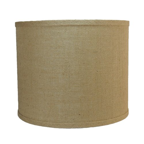 urbanest burlap drum lamp shade 12 inch by 12 inch by 10. Black Bedroom Furniture Sets. Home Design Ideas