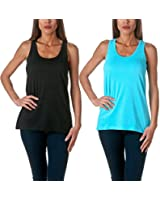 Sofra Women's Loose Fit Tank Top Relaxed Flowy