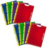 Mead Trapper Keeper 2-Pocket Portfolio, 12 x 9.38 x .12 Inches, Assorted, Pack of 8 (73045)