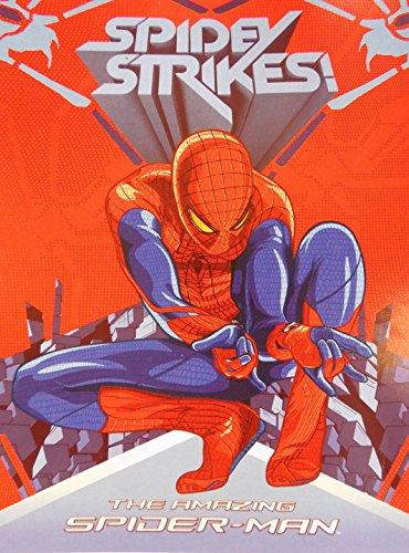 """Marvel The Amazing Spider-Man """"Spidey Strikes"""" Premium Plush Raschel Twin Blanket 78"""" X 59"""" front-995201"""