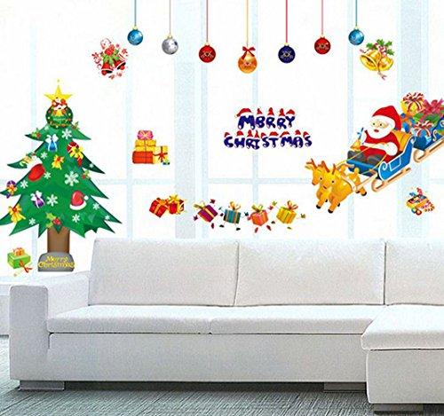 canis ウォールステッカー クリスマス サンタクロース シカ そり はがせる ステッカー