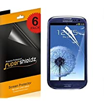 SUPERSHIELDZ- Samsung Galaxy S3 High Definition (HD) Clear Screen Protector Shield + Lifetime Replacements Warranty (AT&T, Verizon, Sprint, T-mobile, All Carriers) [6 Pack]- Retail Packaging