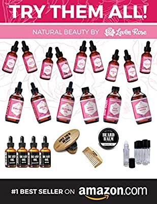 Leven Rose Jamaican Black Castor Oil - 100% Natural & Pure Organic Black Castor Seed Oil Serum for Hair, Hot Oil Treatment, and Skin Healing for Treating Eczema, Psoriasis, Acne, Burns - 1 Ounce (1 Oz) in Dark Amber Glass Bottle with Glass Dropper - Vegan