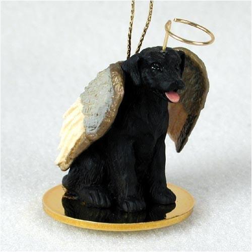 Black Lab Angel Ornament