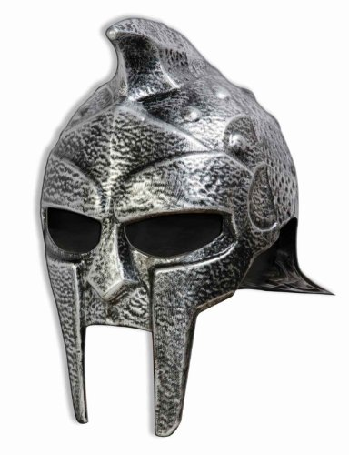 Forum Novelties Roman Gladiator Helmet, Silver, One Size