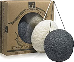 ArtNaturals Presents:  Artisanal Quality, Natural Beauty. 100% All Natural and Organic Konjac Sponge Set, Organic Konjac root fiber sponge. -Gentle cleansing and exfoliation for those suffering from Dry flakey skin, rosacea, psoriasis, acne, ...