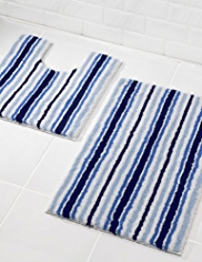 Nautical Striped Bath Mat