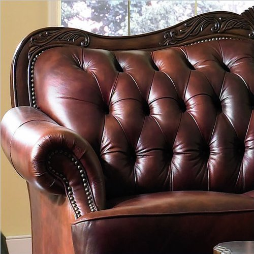 Brown Leather Victoria Sofa