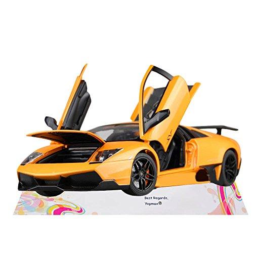 Car Toys 1:18 Yellow Lamborghini Murcielago LP670-4 SuperVeloce Model Cars