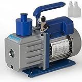 3CFM Electric Vacuum Pump 2 Stage Refrigerant R410a R134a HVAC Deep Vane A/C