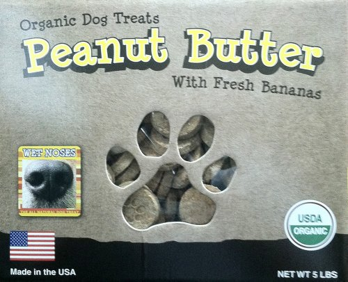Wet Noses All Natural Dog Treats Peanut Butter w Bananas 5lb (Wet Noses Peanut Butter compare prices)