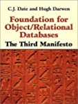 Foundation for Object/Relational Data...