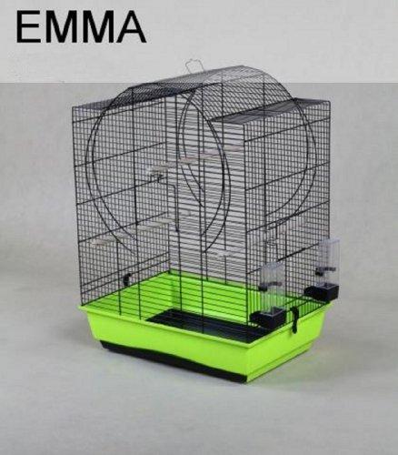 Vogelkäfig Vogelbauer Käfig EMMA grün/schwarz