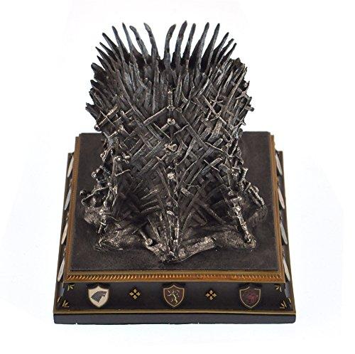 Game of thrones iron throne bookend home garden decor for Game of thrones garden ornaments