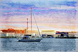 Original Baltimore Art, Dawn Sailing by Canton