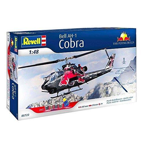148-Revell-Ah-1f-Cobra-Fliegend-Bulls-Modell-Bausatz-Red-Bull-Geschenkbox-Mastab