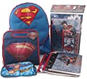 Superman Ultimate School Supply Set Includes Molded Chest Backpack And Lunchbox