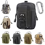 Unigear Compact Multi-Purpose Tactical Mole EDC Utility Gadget Pouch Tools Waist Bag Pack, Black (Color: Black (White thread))