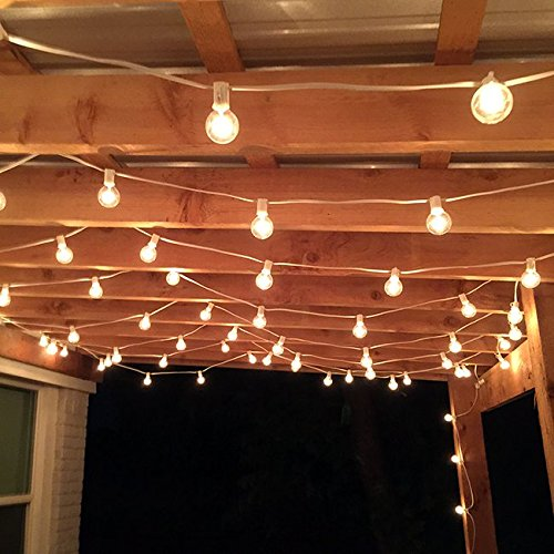 50 Foot G40 Globe Patio String Lights with Clear Bulbs for Outdoor String Lighting (Black Wire) 3