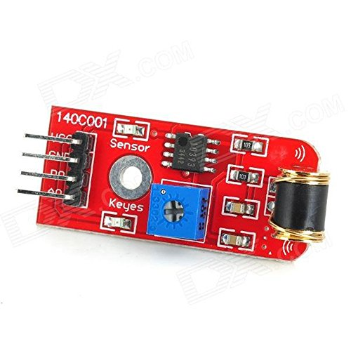 Next Adjustable Sensitivity Vibration Sensor Module for Arduino - Red (Works with Official Arduino Board)ARD0704