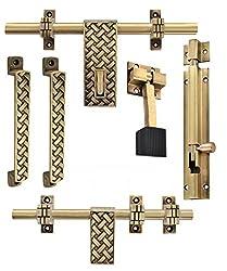Klaxon Glorious 2 Brass Door Accessories Kit (Antique Finish)