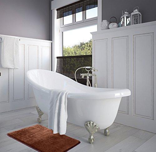 Memory Foam Bathrug Chocolate Brown Bath Mat And Shower Rug Small 17 Quot