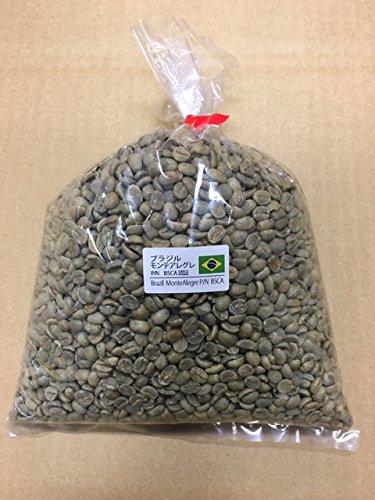 松屋珈琲 コーヒー生豆 ブラジル モンテ・アレグレ(BSCA認証) 1kg