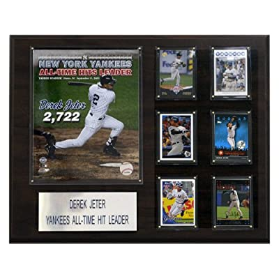 MLB 16 x 20 in. Derek Jeter All Time Yankee Hit Leader New York Yankees Player Plaque