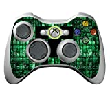 Xbox 360 Controller Skin Stickers - Vinyl High Gloss Sticker for X360 Slim Wireless Game Controllers - X3 Controller Decal - Green Digicamo by GameXcel ® [ Controller Not Included ]
