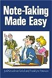 Note-Taking Made Easy (0809256533) by Kesselman-Turkel, Judi