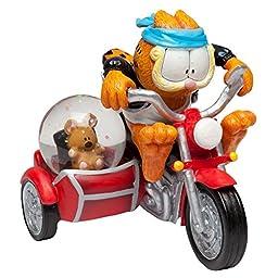 Garfield Fastest Cat in Town Water Globe Statue