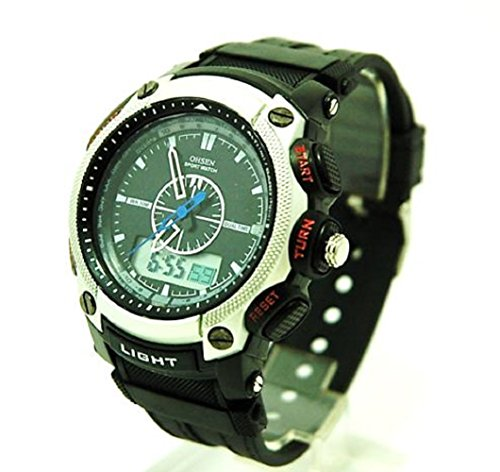 OHSEN Sports Fitness outdoors sports,! Chronograph water resistant: 30 m (SILVER)