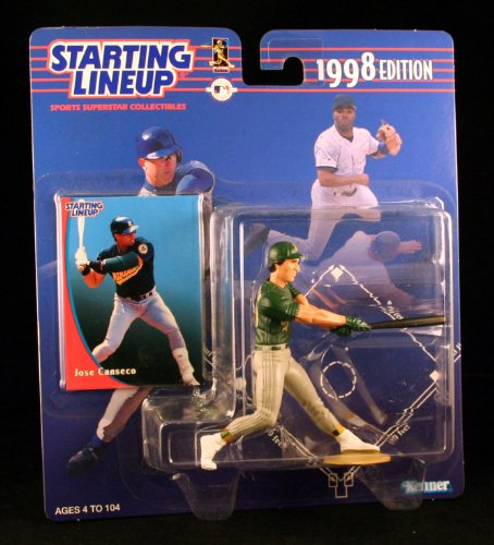 JOSE CANSECO / OAKLAND A'S 1998 MLB Starting Lineup Action Figure & Exclusive Collector Trading Card